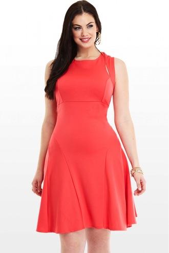 dress chloe marshall model curvy plus size peach dress short dress summer dress brunette