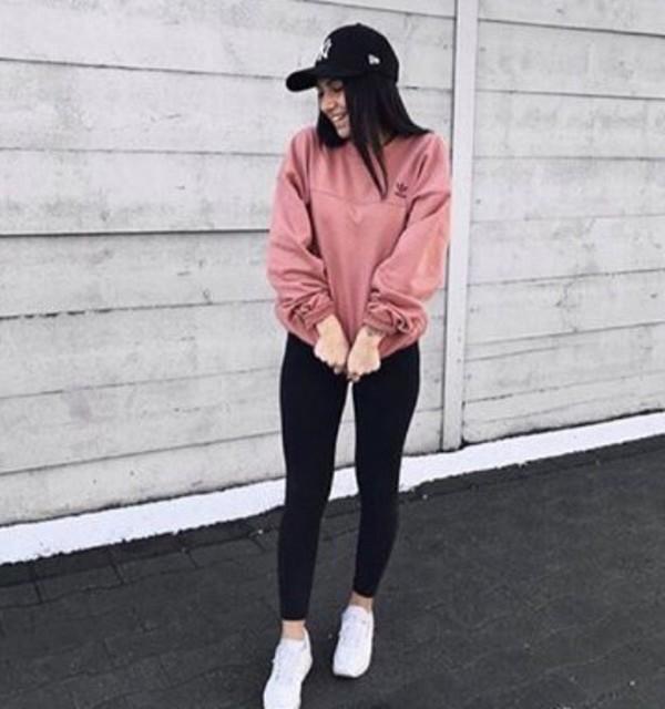 adidas Originals Oversized Sweatshirt In Dusky Pink at asos.com