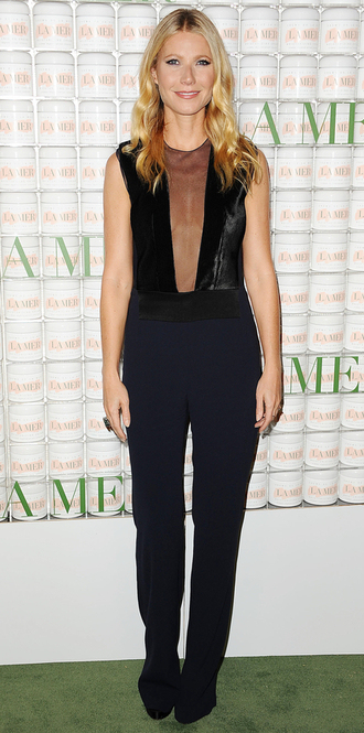 jumpsuit gwyneth paltrow black