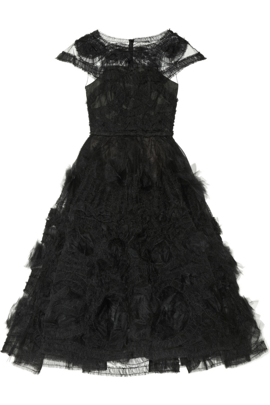 Marchesa appliquéd tulle gown – 55% at the outnet.com