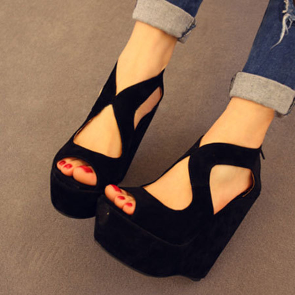 Innovative Details About Womens Wedge Shoes Wedges High Heels Platform Court