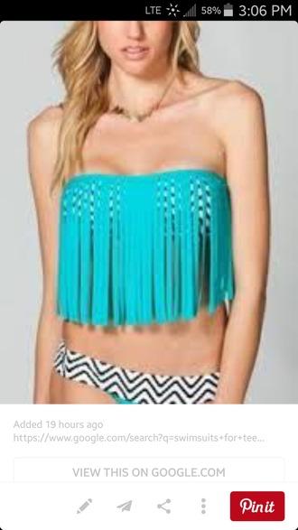 swimwear midkini top swim wear 2015 fringe bikini midkini bikini bikini top bikini 2015 blue bikini black and white bikini black bikini