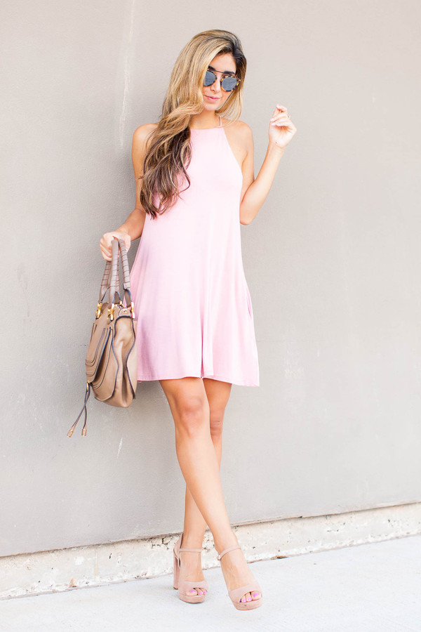 de54f9b60f2e the darling detail - austin fashion blog blogger dress shoes sunglasses bag  pink dress pink nude.