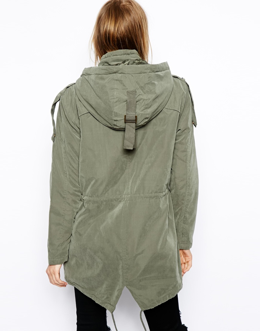 ASOS Popper Parka at asos.com