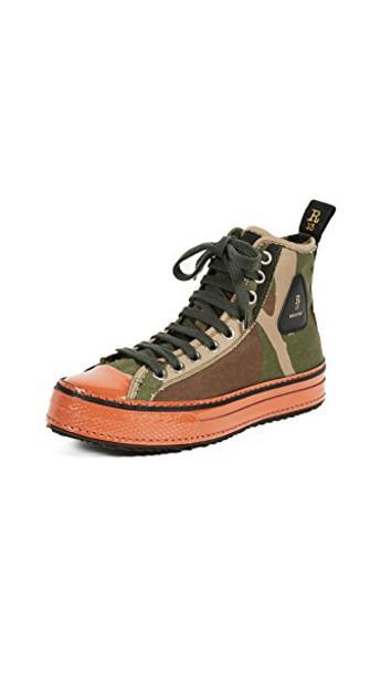R13 high sneakers high top sneakers orange shoes