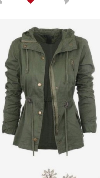 coat parka army green jacket