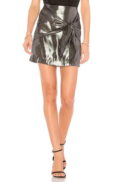 CAPULET skirt metallic silver