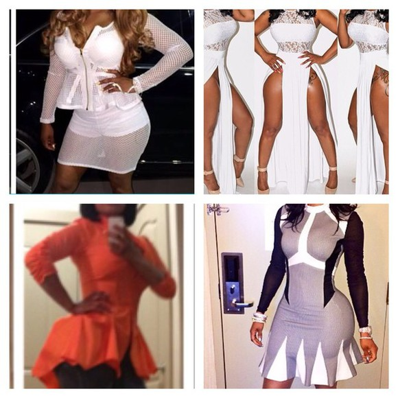 fishnet blouse bodysuit bodycon dress keyshia ka'oir kaior