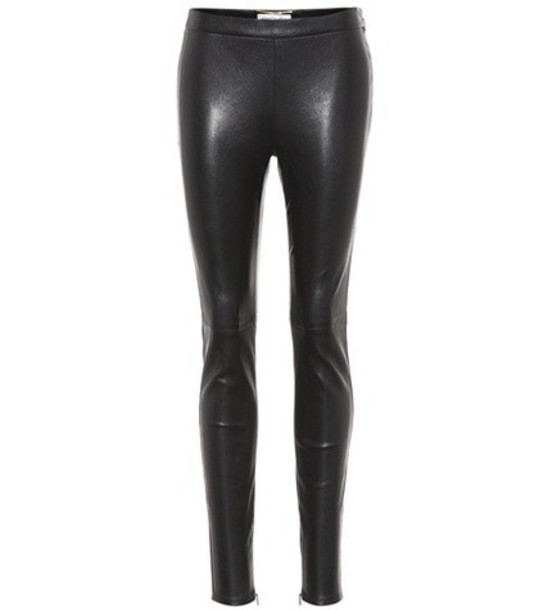 Saint Laurent leather black pants