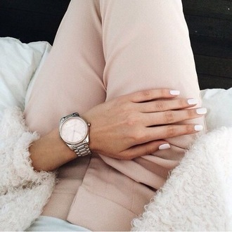 pants trouser light pink classy outfit chic
