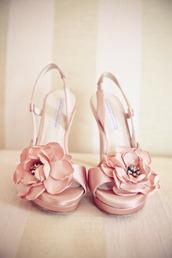 nude pumps,nude high heels,high heels,sling back peep toe heels,flower shoes,slingback heels,slingback pumps,wedding shoes,prom