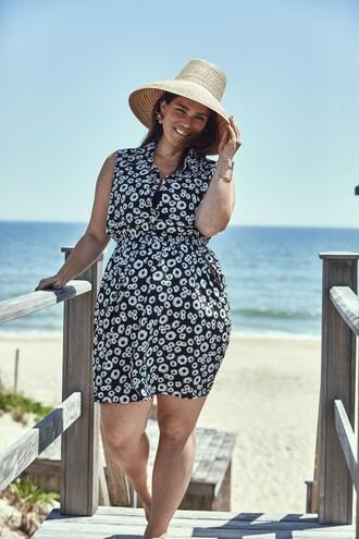 dress hat beach summer dress summer outfits clementine desseaux model curvy plus size plus size dress black and white
