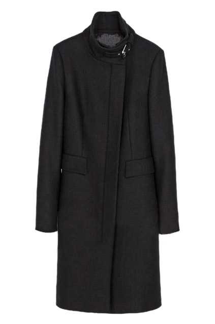 ROMWE | Buckled Slim Sheer Black Trench Coat, The Latest Street Fashion