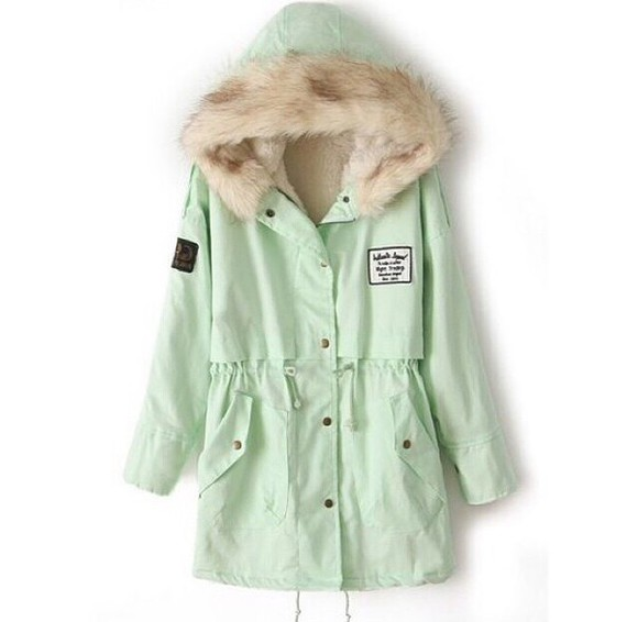 mint jacket winter sweater fur jacket winter jacket