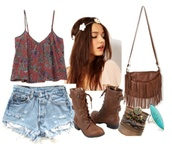 shoes,cute,floral,girly,red,boots,combat boots,indian boots,dip dyed,flowers,flower crown,blue,shorts,shirt,bag,jewels