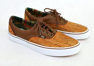 shoes vans sneakers vans sneakers brown brown sneakers brown shoes wood wooden