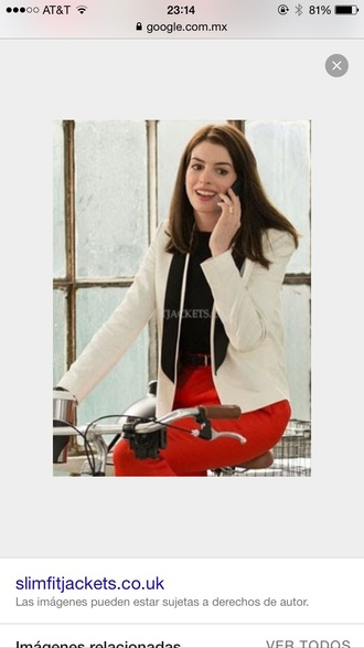 pants coat outfit anne hathaway style classy