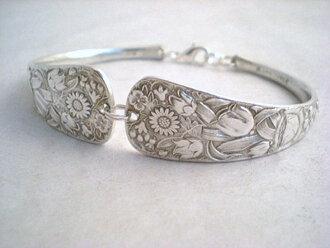 jewels braclets silver bracelets floral inlove
