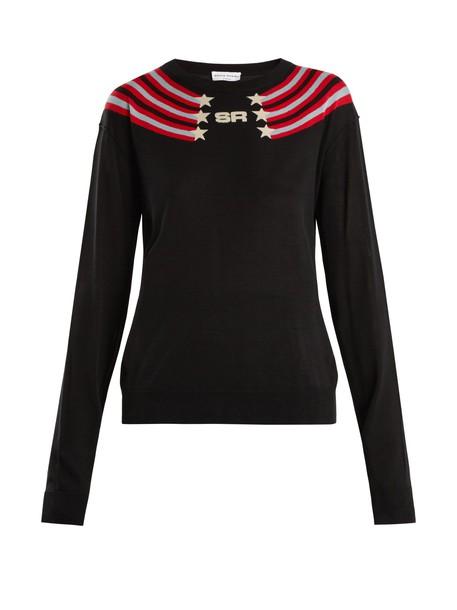 Sonia Rykiel sweater cotton silk stars black