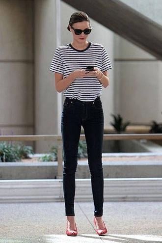 shirt striped shirt tshirt