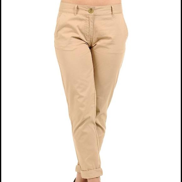 H&m Khaki High Waisted Pants