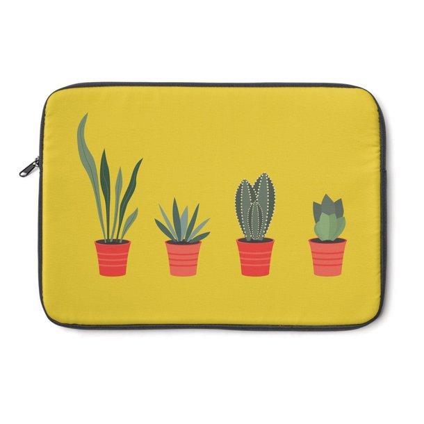 bag laptop sleeve computer case cactus succulent plants