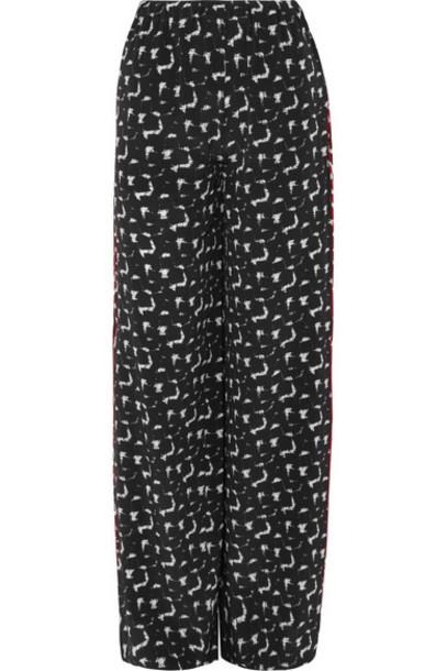 MARNI pants wide-leg pants black silk