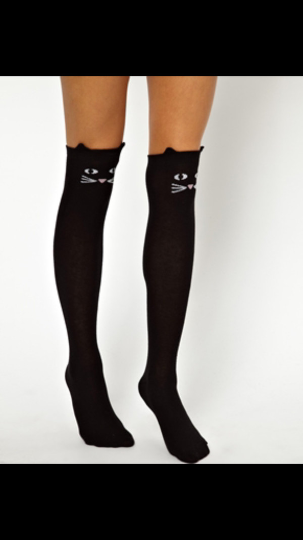 socks knee high socks cats