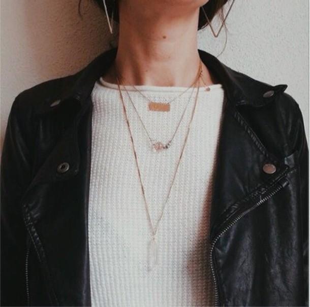 Black Sweater Jewelry