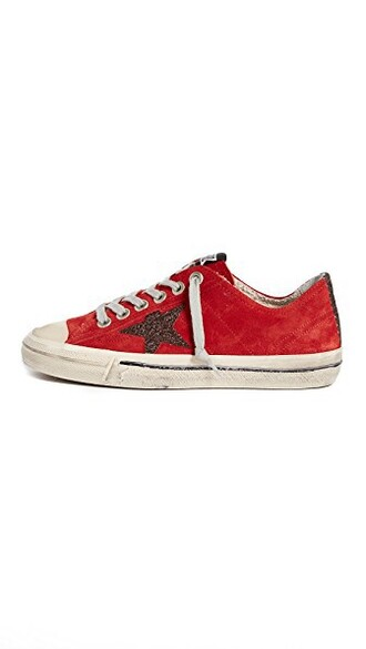 sneakers glitter bronze red shoes