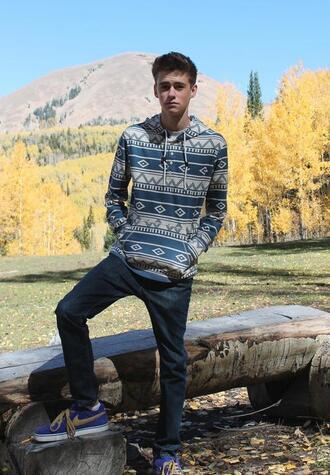 sweater aztek hoodie aztek print