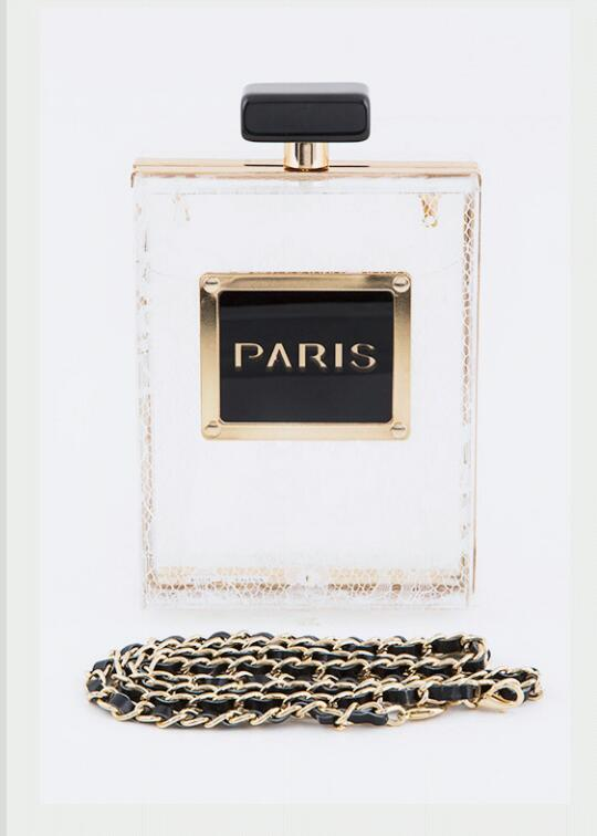 Bodycandies ? paris perfume bottle clutch