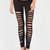 Holy Slit Shredded Front Leggings OLIVE MERLOT BLACK - GoJane.com