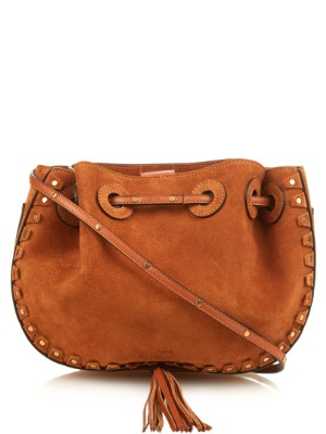 Inez studded-trim suede cross-body bag | Chloé | MATCHESFASHION.COM US