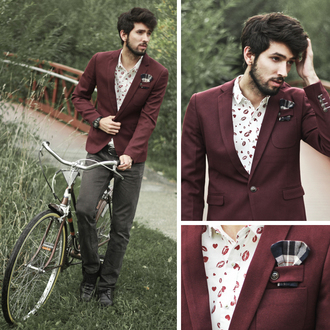 bobby raffin blogger jacket menswear burgundy hipster wedding mens suit hipster menswear