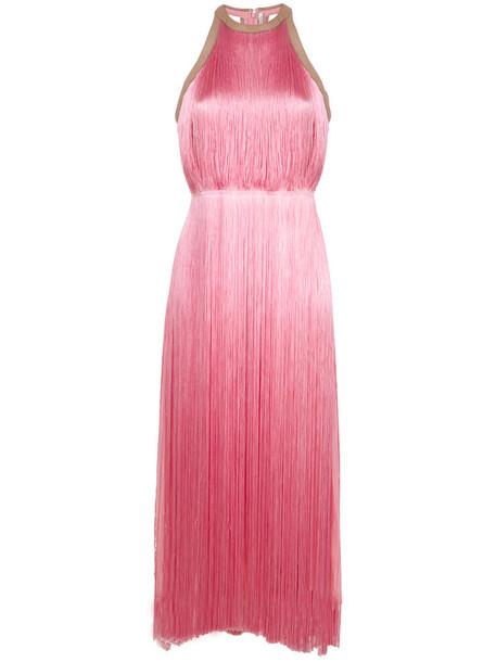 dress fringed dress sleeveless women leather purple pink