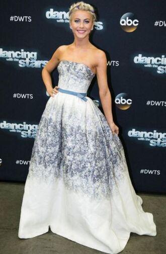 dress gown prom dress julianne hough strapless bustier dress
