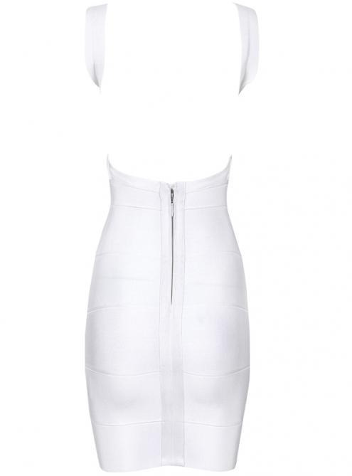 White Sexy Strap Halter Bandage Dress H612W $99
