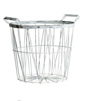 home accessory,desk,silver,metallic,basket,office supplies,metallic home decor