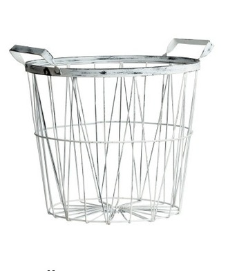 home accessory desk silver metallic basket