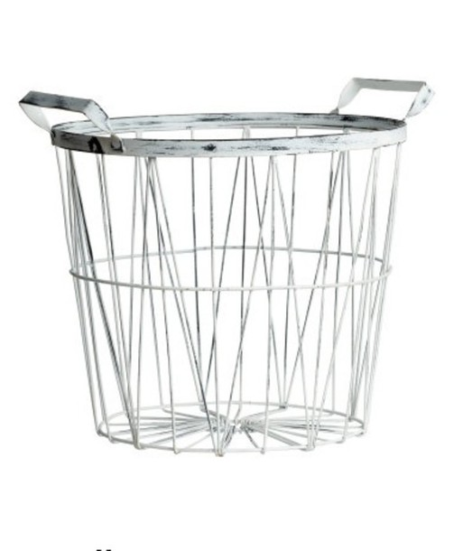 home accessory desk silver metallic basket office supplies metallic home decor