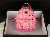 bag,mcm,pink,backpack