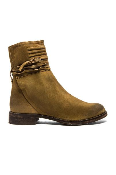 Free People Cambridge Wrap Boot in tan