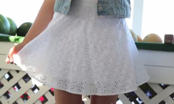 skirt white skirt white skater dress cute skirt