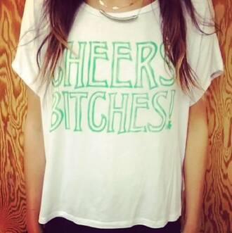 shirt clothes green white st patrick's day t-shirt pinterest tumblr instagram found on instagram