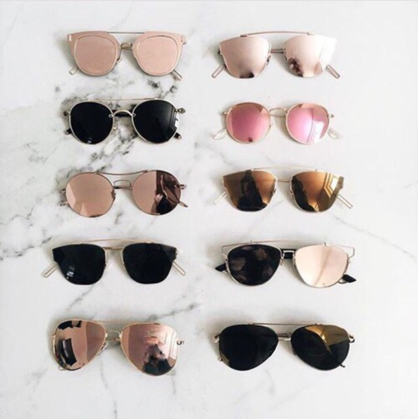 sunglasses beautiful gold girly girl girly wishlist style scrapbook style pop art pop punk instagram tumblr pink sunglasses black sunglasses mirrored sunglasses cat eye round sunglasses sunnies glasses Accessory accessories trendy rose gold black brown gold sunglasses
