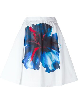 skirt pleated skirt pleated print white