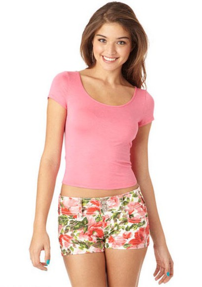top floral shorts