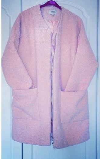 jacket pink coat fluffy cardigan pink jacket pink cardigan pink coat