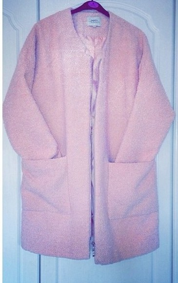 jacket pink pink jacket coat textured fluffy bikini kardashians shoes cardigan long jacket pink cardigan pink coat textured coat textured cardigan texture, zipp pink fluffy